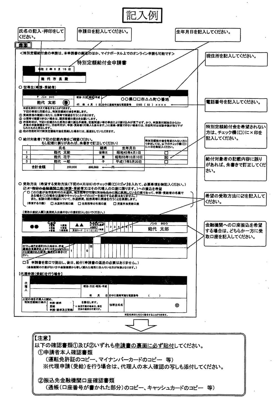 申請書類2