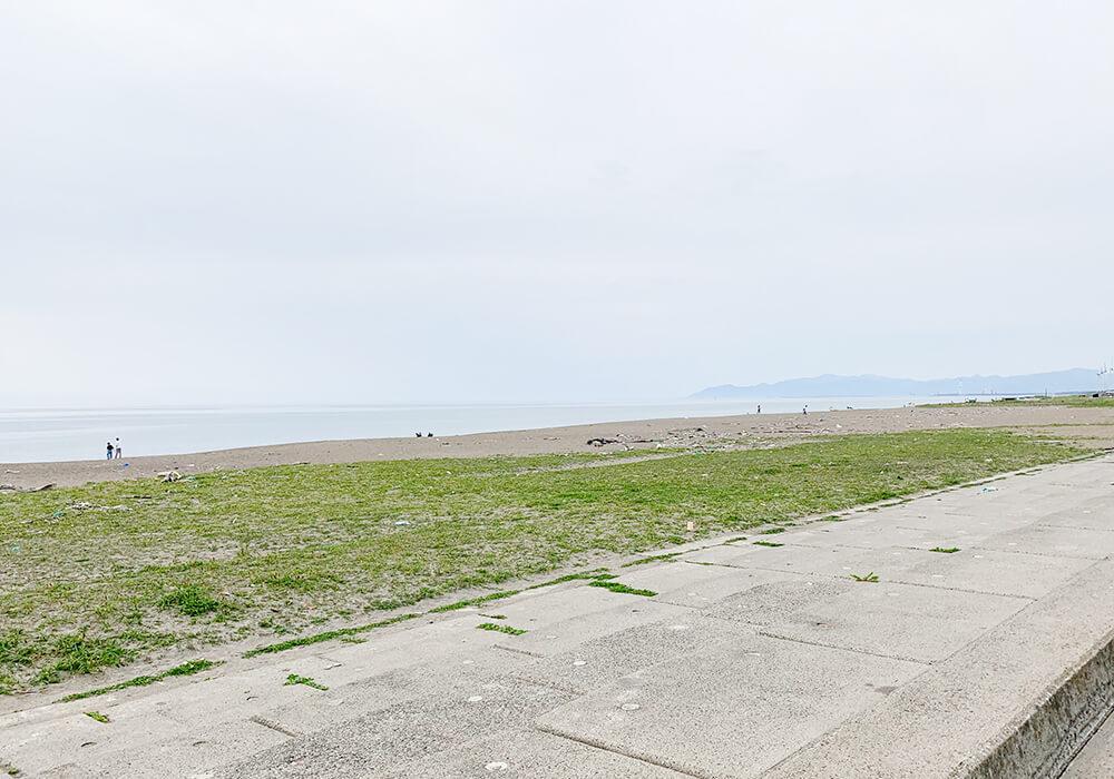 釜谷浜海水浴場の風景2