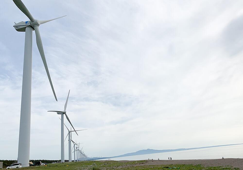 風力発電の風景