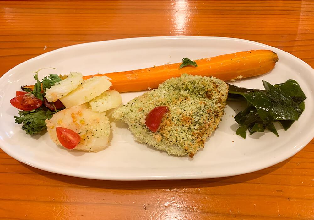 鯛の香草パン粉焼き2