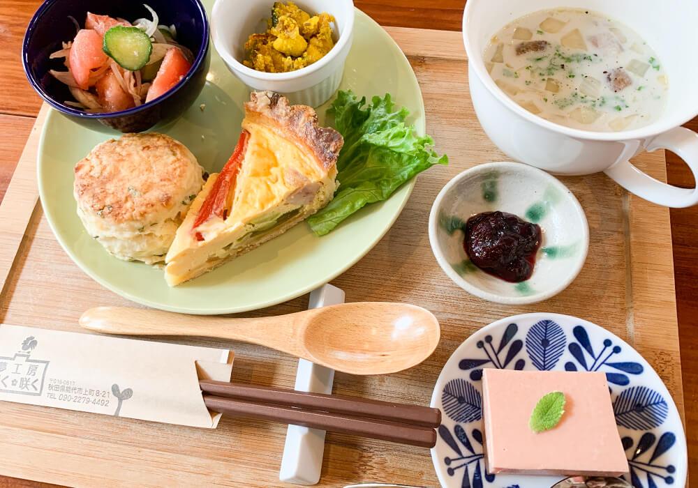 能代山本地域の新鮮な食材を使ったメニューの数々1