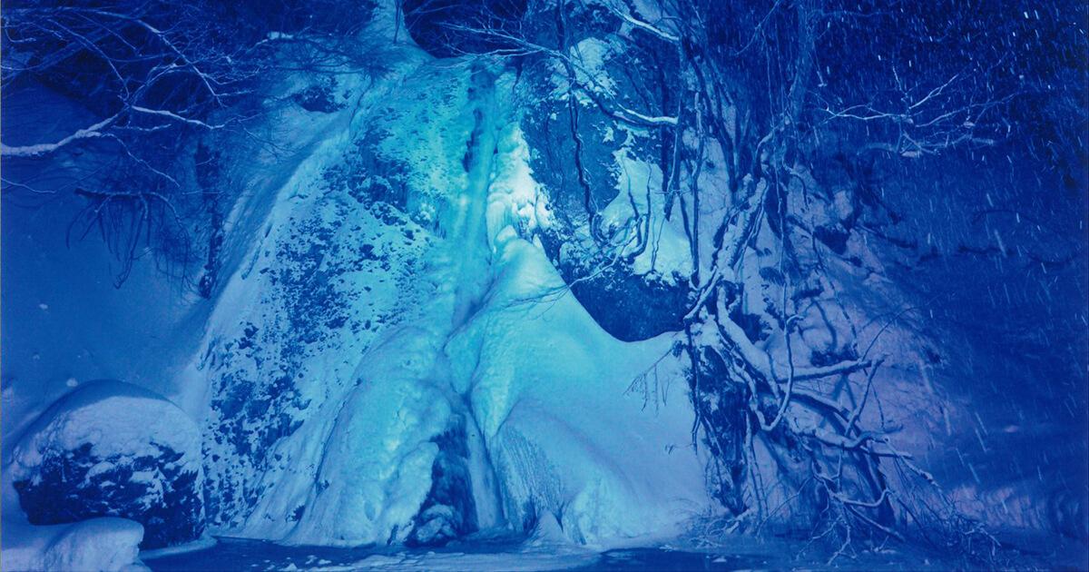 【藤里町】峨瓏の滝でライトアップイベントが始まったみたい