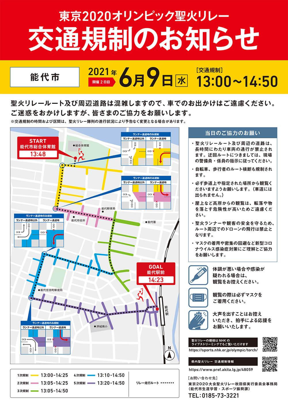 東京2020オリンピック聖火リレーの開催に伴う交通規制のお知らせ