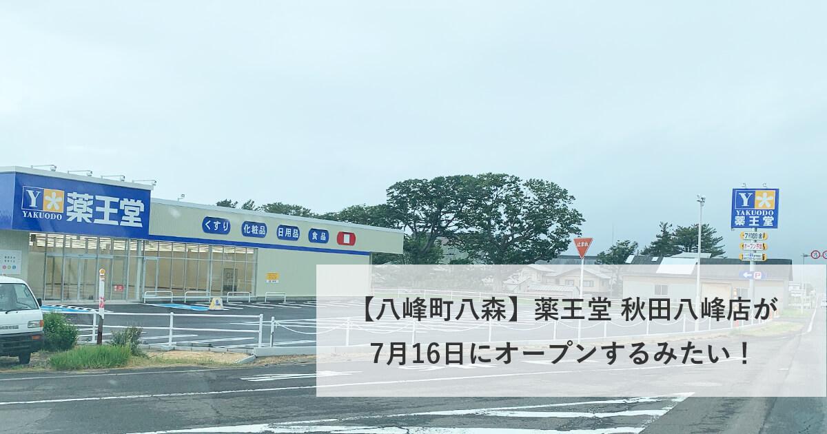 薬王堂秋田八峰店