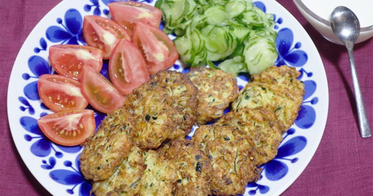 「ギリシャ風ズッキーニの揚げ団子」のレシピをご紹介します。